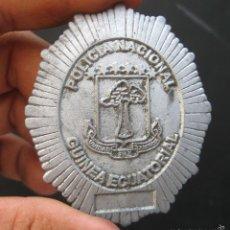 Militaria: MUY RARA MOLDE ? PLACA ESPAÑOLA POLICIA NACIONAL GUINEA ECUATORIAL. Lote 59809072