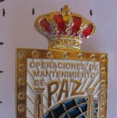 Militaria: INSIGNIA DISTINTIVO OPERACIONES DE MANTENIMIENTO DE PAZ. Lote 60169711