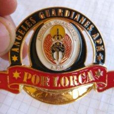 Militaria: DIFICIL GRAN INSIGNIA POLICIA ANGELES GUARDIANES APM ASOCIACION POLICIAS MOTORISTAS POR LORCA. Lote 262102935