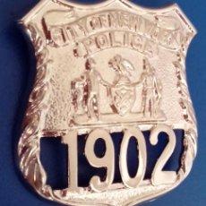 Militaria: INSIGNIA PLACA DE POLICIA AMERICANA CITY OF NEW YORK 1902. Lote 60693518