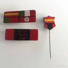Militaria: INSIGNIAS BANDO NACIONAL GUERRA CIVIL ESPAÑOLA - DIVISIÓN AZUL - FALANGE. Lote 60743339