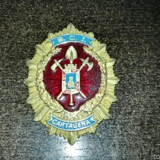 Militaria: ANTIGUA PLACA DE PECHO BOMBEROS CARTAGENA. Lote 60903499
