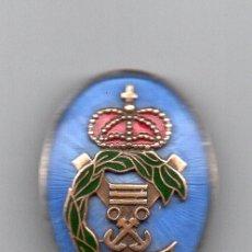 Militaria: INSIGNIA DE MARINA EN ESMALTES Y PLATA. Lote 61211387