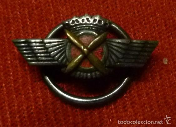 EMBLEMA AVIACIÓN ÉPOCA FRANCO ROKISKI (Militar - Insignias Militares Españolas y Pins)