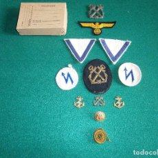 Militaria: CONJUNTO ORIGINAL PARA GUERRERA KRIEGSMARINE. Lote 61503915