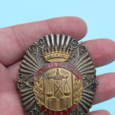 Militaria: PLACA AGENTE JUSTICIA MUNICIPAL ( POLICIA ). Lote 61709552