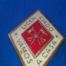 Militaria: PLACA LICENCIADO CABALLERIA. Lote 62735200