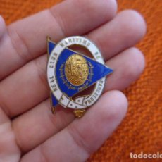 Militaria: ANTIGUA INSIGNIA DEL REAL CLUB MARITIMO DE BARCELONA, ALFONSO XIII O REPUBLICA, MARINA. Lote 63026336