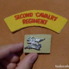 Militaria: LOTE PARCHE Y INSIGNIA 2ND REGIMENTO CABALLERIA RAAC. AUSTRALIA ? GRAN BRETAÑA ?. Lote 64812027