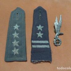 Militaria: LOTE DE POLONIA, HOMBRERAS Y INSIGNIA PARACAIDISTA, QUIZA EPOCA COMUNISTA.. Lote 245307235