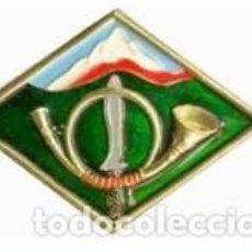 Militaria: ESTUPENDO DISTINTIVO ESCUELA MILITAR DE MONTAÑA. Lote 68707033