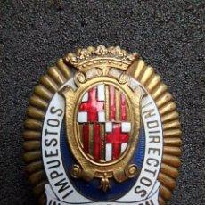 Militaria: (JX-161263)PLACA DE INSPECTOR FISCAL,IMPUESTOS INDIRECTOS,Nº(13)REALIZADA EN CASA CASTELLS. Lote 69615009