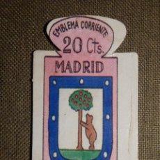 Militaria: ESCUDO - EMBLEMA - AUXILIO SOCIAL - DONATIVOS - MADRID - 20 CTS - 1951. Lote 69892697