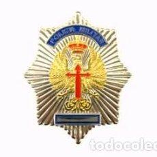 Militaria: ESTUPENDA PLACA DE IDENTIFICACION DE LA POLICÍA MILITAR DEL EJÉRCITO ESPAÑOL, ESTUPENDO ESMALTADO. Lote 129272836