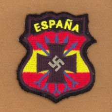 Militaria: EMBLEMA, PARCHE BORDADO, ESCUDO DE BRAZO, DIVISION AZUL, 250 BLAU DIVISION, 2ª GUERRA MUNDIAL. . Lote 70560653