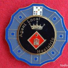 Militaria: PLACA POLICIA LOCAL DE HOSTALRICH ( GERONA). Lote 71127537