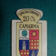 Militaria: ESCUDO - EMBLEMA - AUXILIO SOCIAL - DONATIVOS - MADRID - CAMARCA - 20 CTS - 1951. Lote 71136921