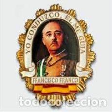 Militaria: PLACA CARTERA DE FRANCO CON EL LEYENDA DE -YO CONDUZCO, EL ME GUIA-. Lote 73333259
