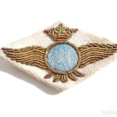 Militaria: ROKISKI DE TELA, ALAS DE AVIACIÓN EN TELA BORDADAS EN HILO DE ORO - ÉPOCA DE FRANCO - 6,4 CM DE LARG. Lote 73703291