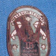 Militaria: INSIGNIA 3A REUNIÓN NACIONAL SANITARIOS ESPAÑOLES GUERRA CIVIL. Lote 73837411