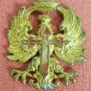 Militaria: INSIGNIA DEL EJERCITO DE TIERRA PARA GORRAS. METAL ESMALTADO. CIRCA 1940. . Lote 73932775