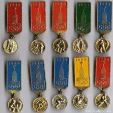 Militaria: LOTE 10 INSIGNIAS SOVIETICAS.OLIMPIADA -1980..URSS. Lote 82314422