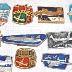 Militaria: LOTE 10 INSIGNIAS SOVIETICAS.AVIONES ..URSS. Lote 76132071