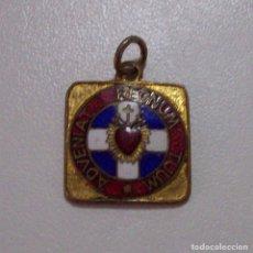 Militaria: DETENTE ENEMIGO EL CORAZON DE JESUS ESTA CONMIGO ESMALTADO. Lote 78594801