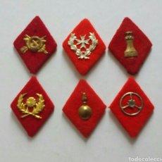Militaria: LOTE 6 ROMBOS MILITARES, DE TELA. Lote 78832397
