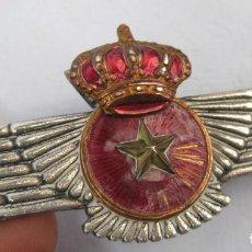 Militaria: PRECIOSA INSIGNIA ROKISKI AVIACION EPOCA TRANSICION OBSERVADOR. Lote 79637381