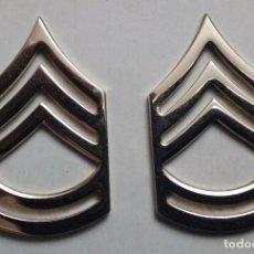 Militaria: USMC. US MARINES. PAREJA DE INSIGNIAS DE CUELLO DE SARGENTO MAYOR. Lote 80166137