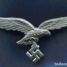Militaria: ALEMANIA III REICH. INSIGNIA, AGUILA DE GORRA DE LA LUFTWAFFE. ZINC.. Lote 80181657