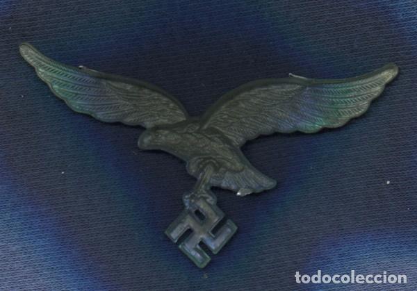 Militaria: Alemania III Reich. Insignia, Aguila de gorra de la Luftwaffe. Zinc. - Foto 2 - 80181657