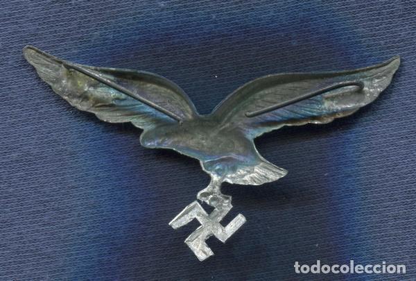 Militaria: Alemania III Reich. Insignia, Aguila de gorra de la Luftwaffe. Zinc. - Foto 2 - 80182113