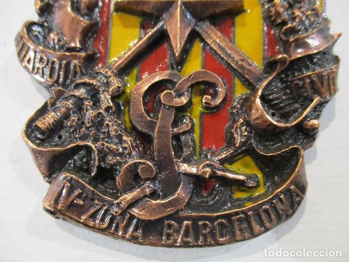 Militaria: ESCUDO GUARDIA CIVIL-V ZONA BARCELONA-RELIEVE-PERFECTO ESTADO - Foto 2 - 80221465