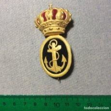 Militaria: GALLETA, EMBLEMA DE GORRA DE SUBOFICIAL DE LA MARINA O ARMADA, ÉPOCA ALFONSO XIII. NAVAL.. Lote 62469179