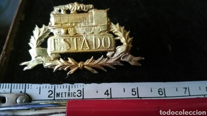 INSIGNIA O DISTINTIVO DE FERROCARRILES O TRENES (Militar - Insignias Militares Españolas y Pins)
