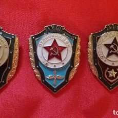 INSIGNIA DE LA URSS RUSA RUSIA SOVIÉTICA, LOTE DE 3 UD (EJERCITO,MARINA, AVIACIÓN)