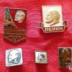 Militaria: INSIGNIA, PIN, URSS, RUSO, LENIN, LOTE 5 UD. Lote 87088208