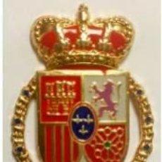 Militaria: EXCELENTE EMBLEMA PARA BOINA DE LA GUARDIA REAL DE FELIPE VI CON ENGANCHE DE ROSCA. Lote 149374078