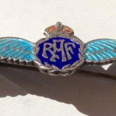 Militaria: ALAS PILOTO RAF. II GUERRA MUNDIAL. PLATA Y ESMALTES.. Lote 89470958