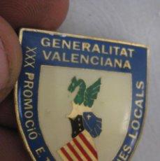 Militaria: INSIGNIA PIN DE BROCHE XXX PROMOCION E. TECNICA POLICA LOCAL VALENCIA POLICIES LOCALS . Lote 90346432