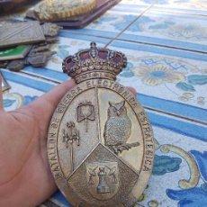 Militaria: ANTIGUA PLACA DE BRONCE DEL BATALLÓN DE GUERRA ELECTRÓNICA ESTRATÉGICA. Lote 117376415