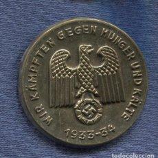 Militaria: ALEMANIA III REICH. INSIGNIA DE SOLAPA WIR KÄMPFTEN GEGEN HUNGER UND KÄLTE. WINTER HILFE WERK.. Lote 91365905