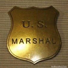 Militaria: INSIGNIA DE BRONCE U.S. MARSHALL ANTIGUO OESTE AMERICANO . Lote 91504335