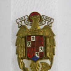 Militaria: DISTINTIVO AGUILA ESMALTADA DE GALA, AÑOS 40, PARA GORRA DE PLATO MIDE 5 X 3 CTMS., AGUILA SAN JUAN,. Lote 91808975