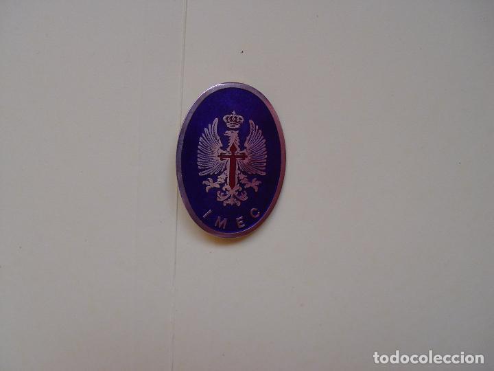 Militaria: Placa - insignia militar. Ejército Español de Tierra. IMEC (1970's) Original. Coleccionista. - Foto 3 - 92304740