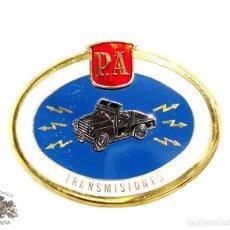 Militaria: CHAPA METÁLICA DE POLCÍA ARMADA - TRANSMISIONES . Lote 92686360