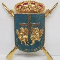 Militaria: ESCUDO,INSIGNIA,EMBLEMA,REGIMIENTO INFANTERIA MECANIZADA ASTURIAS Nº 31,ANGELI ME FECERUNT,16X12 CM.. Lote 93958295