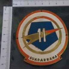 Militaria: EMBLEMA DE BRAZO DE LA 11 DIVISIÓN GUADARRAMA ( PENTÓMICA ), METÁLICO,GRANDE, .AÑOS 50-60. Lote 93961350